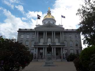 Concord NH Statehouse on Main Street Concord NH