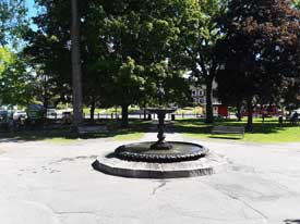 The Colburn Park fountain in Lebanon New Hampshire